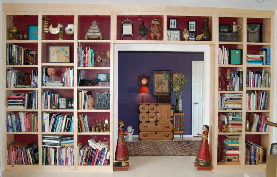 Floor to Wall Bookshelves 914 x 585